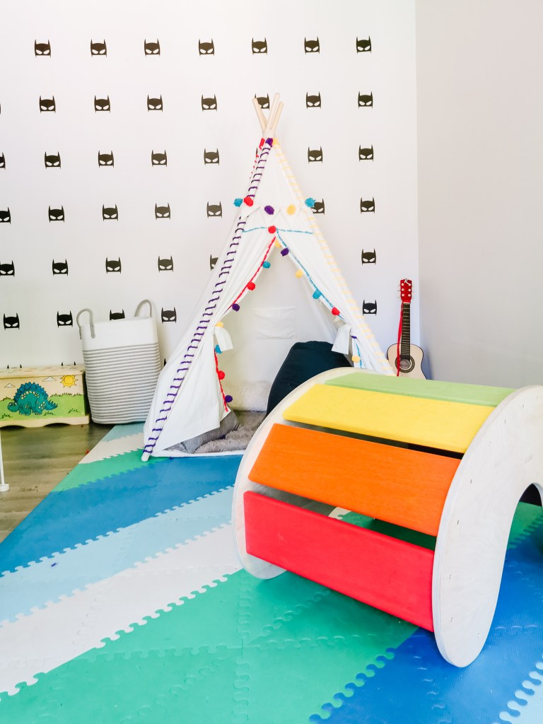 Colourful playroom for kids