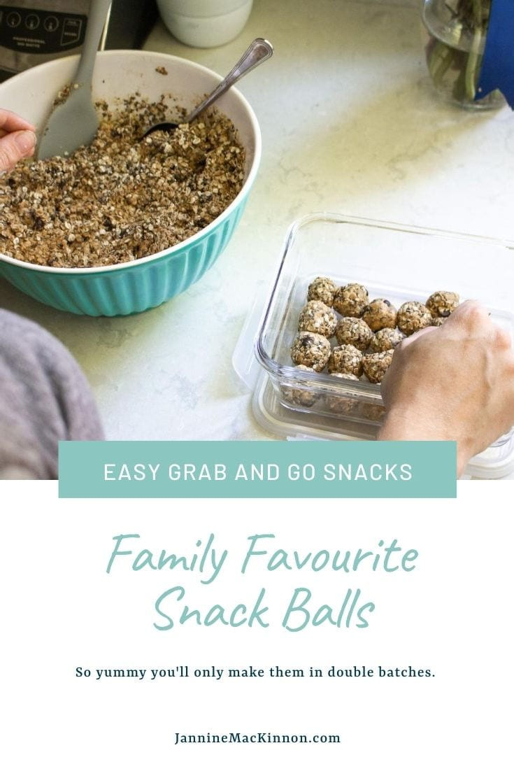 These snack balls are so tasty and so easy to make even your toddler can help you make them, although I'm sure they'll eat a bunch while you do! These tasty snack balls keep great in the fridge and are a perfect grab and go snack.