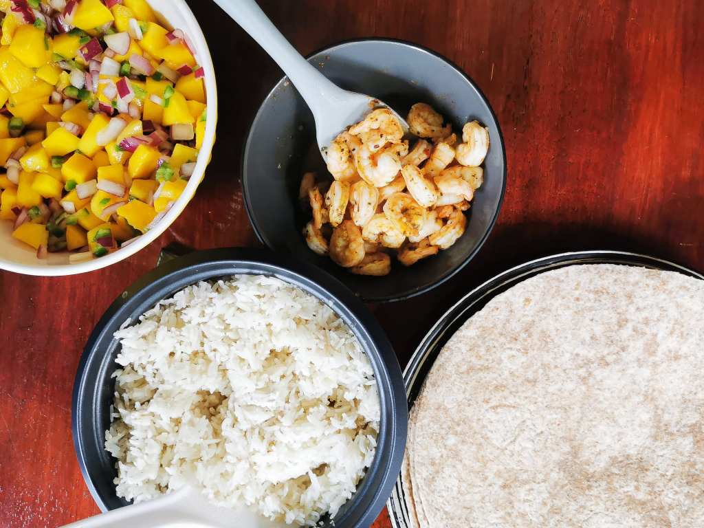 Easy weeknight meal, cajun shrimp wraps are a 30 minute dinner by being ready in as much time as it takes your rice to cook.