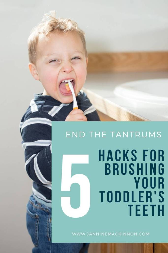 Brushing toddler teeth hacks for a more positive teeth brushing experience for you and your toddler.