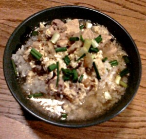 Chicken-and-egg bowl