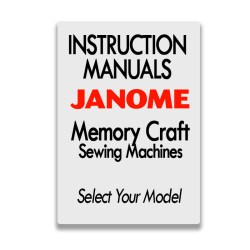 Janome Instruction Manuals for Memory Craft Models