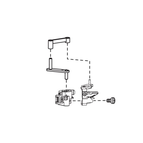 DIagram of the Janome Needle Threader on the MC15000