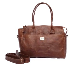 Jan Pierewiet | Peaking Patrys | Large Leather Diaper bag