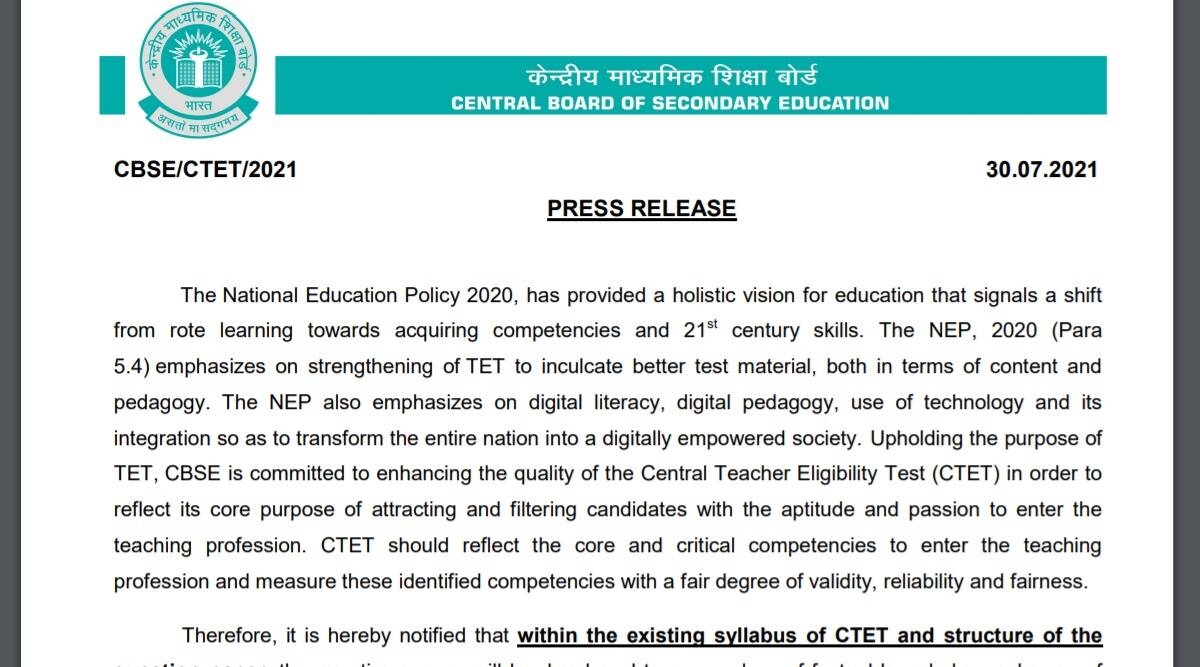 CTET Notification 2021: Notification to be released soon at ctet.nic.in.  Read here for latest updates