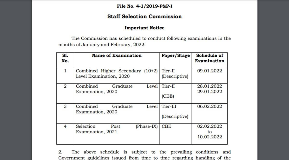 SSC Exam Schedule for CHSL 2020 released on ssc.nic.in, Check here the full schedule with SSC Notification