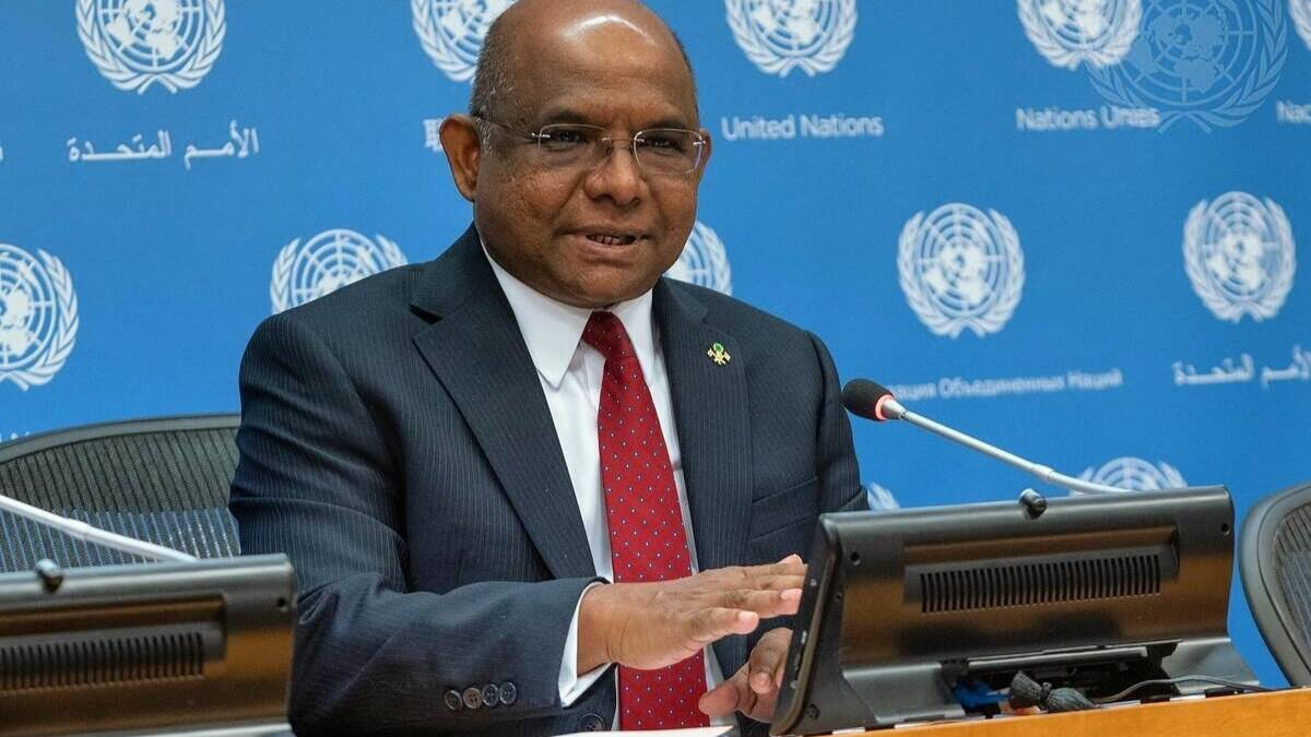 unga president abdulla shahid said i received two doses of covishield who has manufactured in India