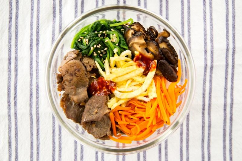 Korean bibimbap bento lunch box recipe