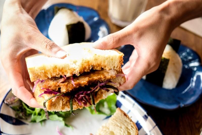 Tonkatsu Sandwich at Dosanko Restaurant Vancouver