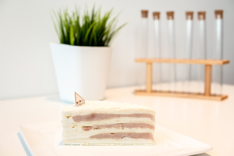 Taro Mille Crepe Cake from Sugar Lab Burnaby BC