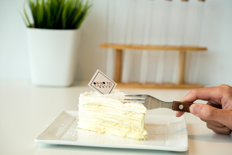 Durian Mille Crepe Cake from Sugar Lab Burnaby BC