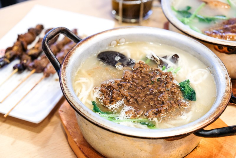 Qin Ma Grill Restaurant - Minced Pork Noodles - Burnaby, BC