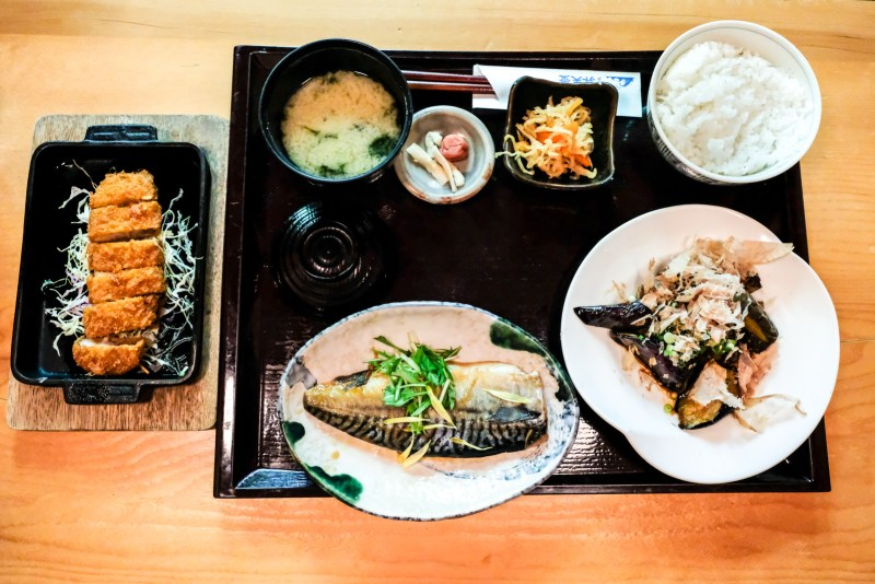3-item Lunch Set from Bentendo Restaurant in Hakata 博多 弁天堂