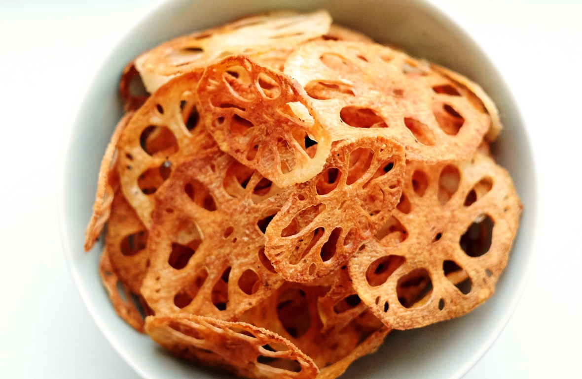 Baked Lotus Root Chips Recipe