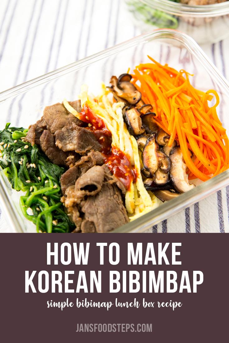 Korean Bibimbap Lunch Box Recipe