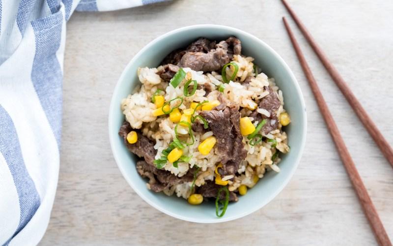 Homemade beef pepper rice recipe