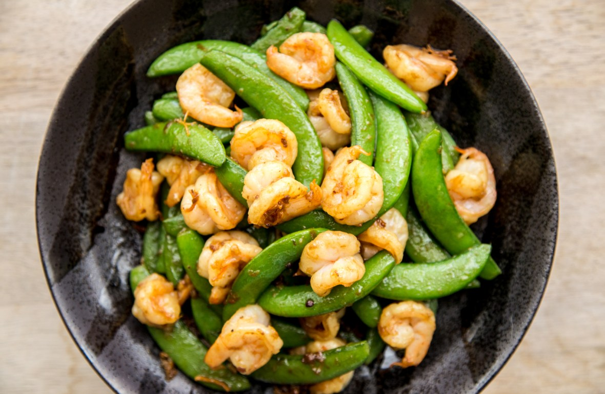 Stir-fried Shrimp & Snap Peas with XO Sauce Recipe