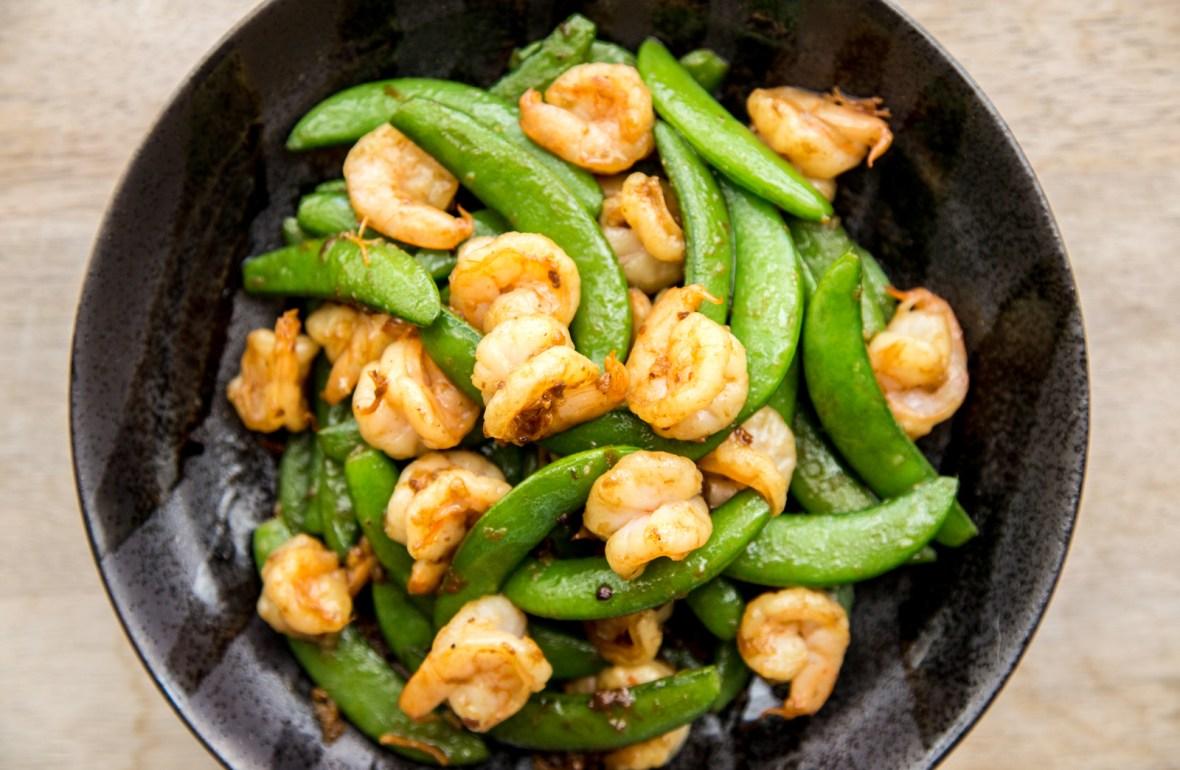 Stir-fried Shrimp & Snap Peas with XO Sauce Recipe