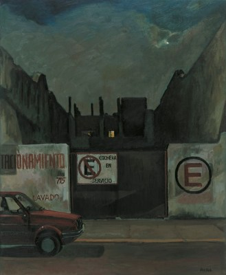 Estacionamiento, 2002, 90 x 110 cm, oil on canvas