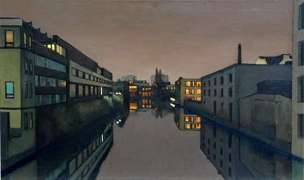 Osterbekkanal, 2004, 100x60, oil on canvas