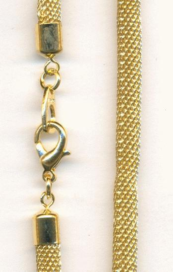 18 Gold Plated Mesh Chain Necklace Jans Jewelry Supplies