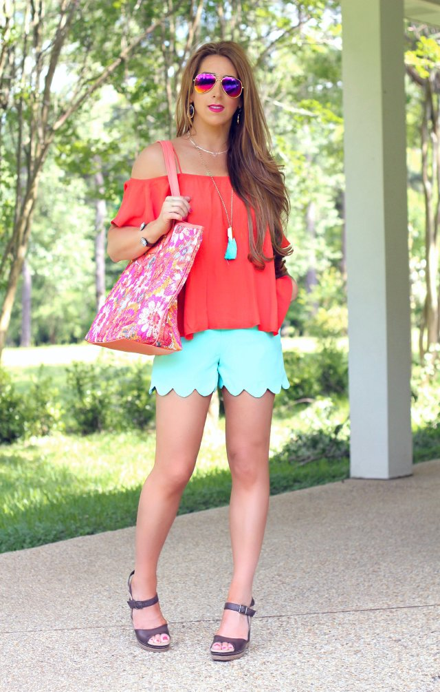 mint scallop shorts 1c