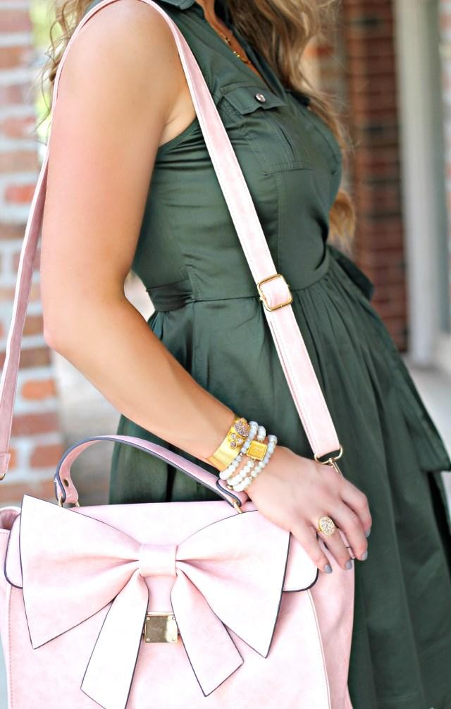 olive wrap dress 2