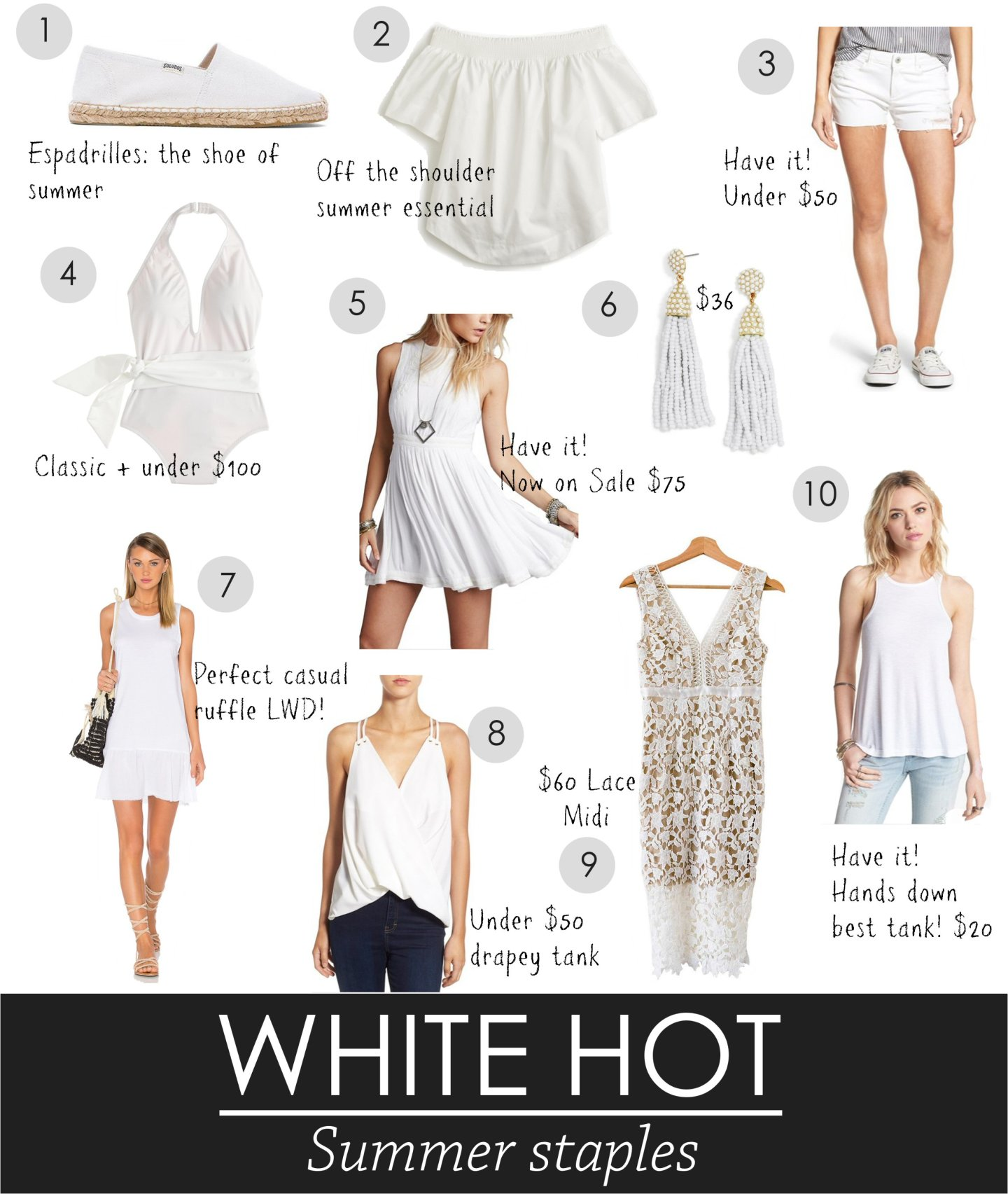 white summer staples 2016