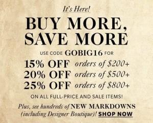 Shopbop Black Friday Sales Event
