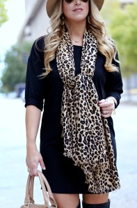 Leopard print scarf | January Hart Blog