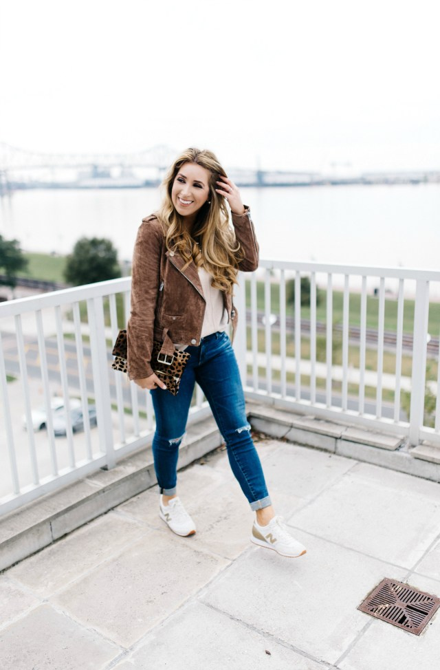 Styling a suede jacket | January Hart Blog