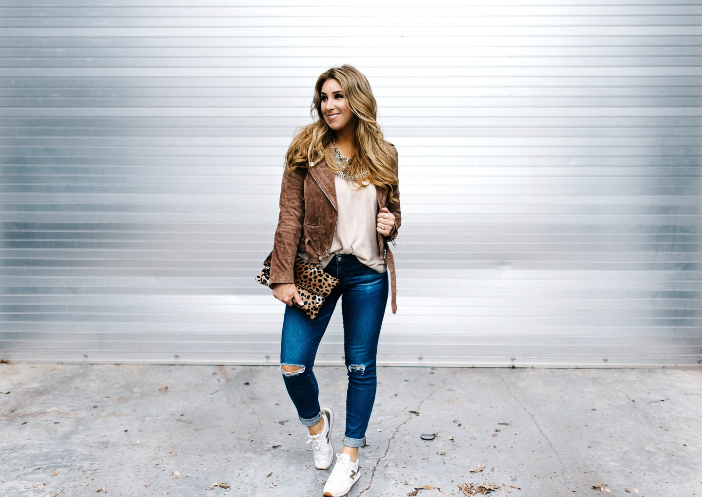 Ripped Denim and a Suede Jacket | January Hart Blog