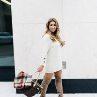 How to Style the Lace up Sweater Dress