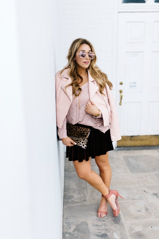 How to style blush and burgundy