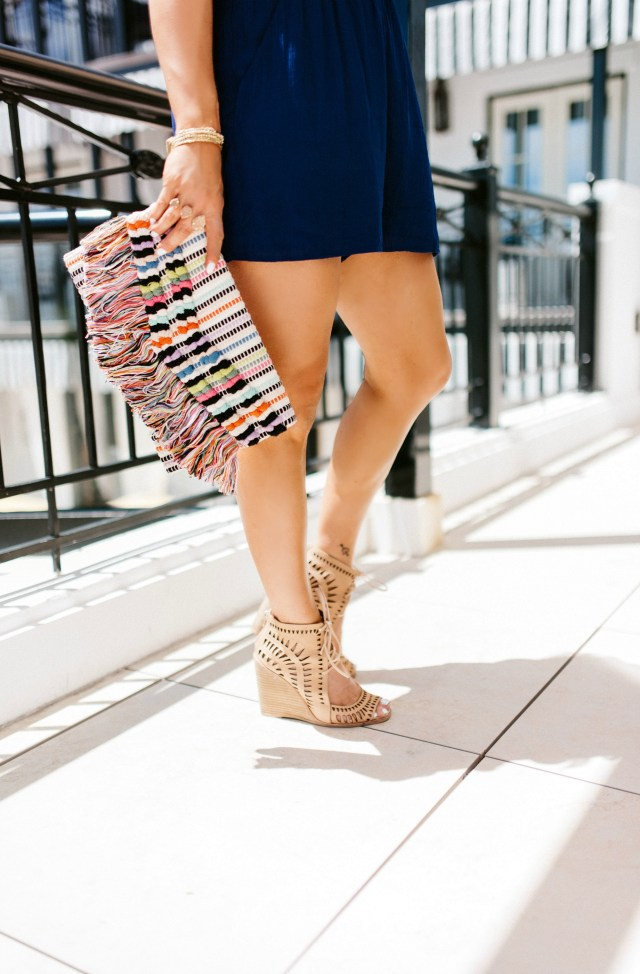 Stella and Dot Fringe Clutch