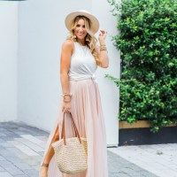 Easy Summer Dressing with a Blush Maxi Skirt + Tank
