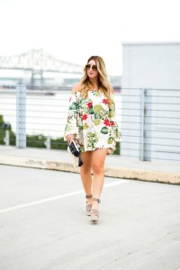 off the shoulder dress with sleeves