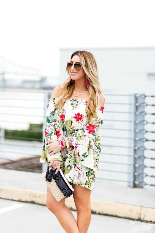 shein tropical dress