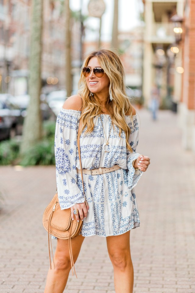 off the shoulder dress long sleeve