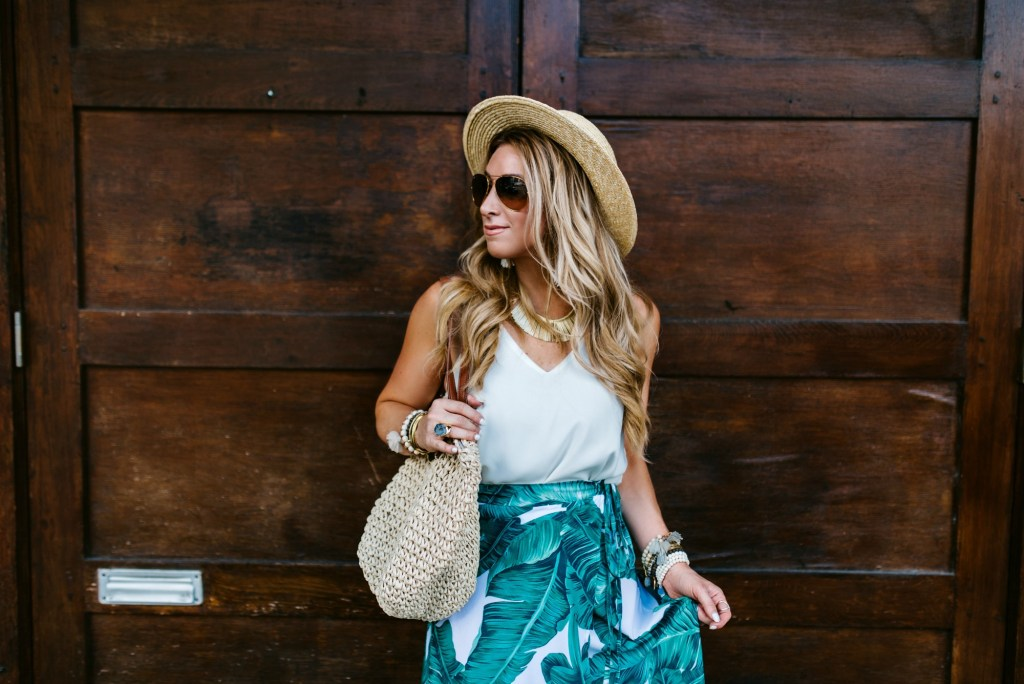 shein palm print skirt 2