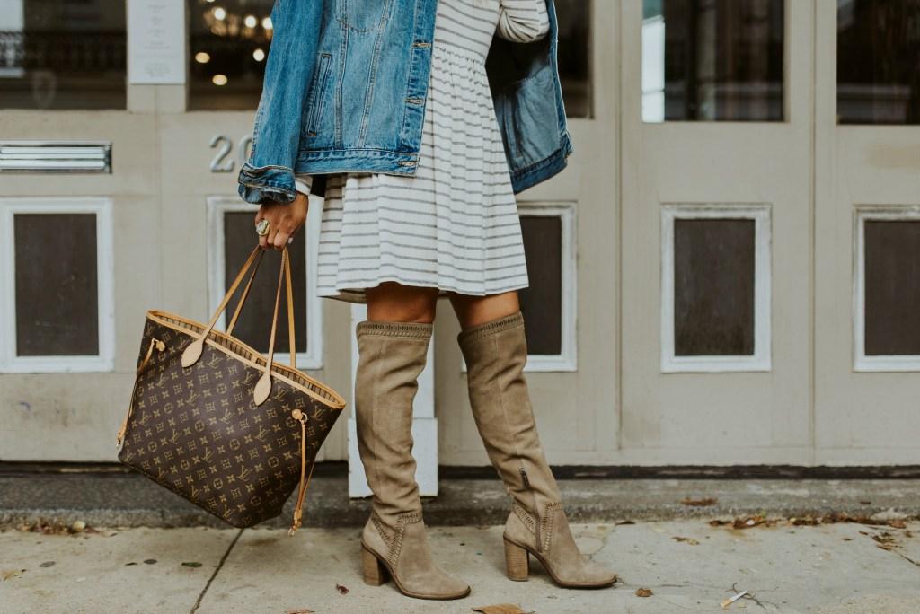 grey stripe dress 3