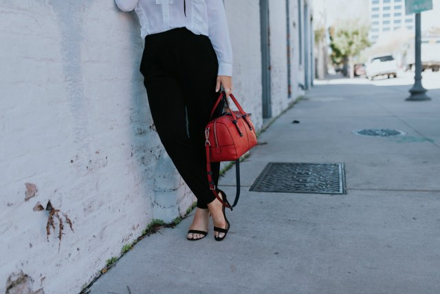 Vera Bradley red satchel bag