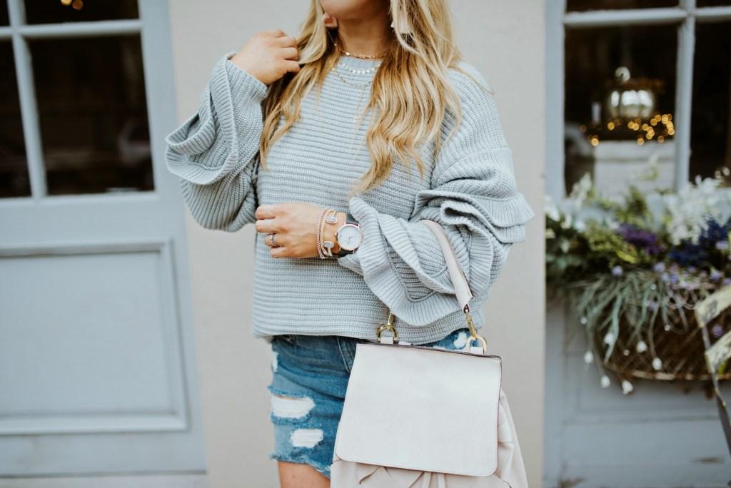 ruffle sleeve sweater 9