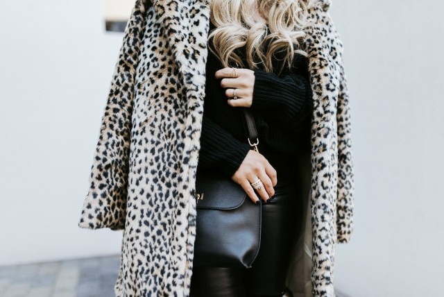 Styling a faux fur leopard coat