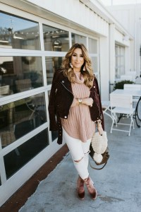 how to style a suede moto jacket