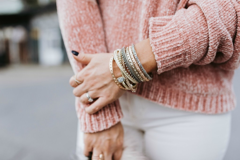 pink chenille sweater 10