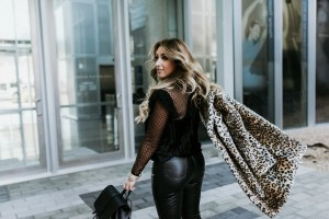 Styling black leather pants