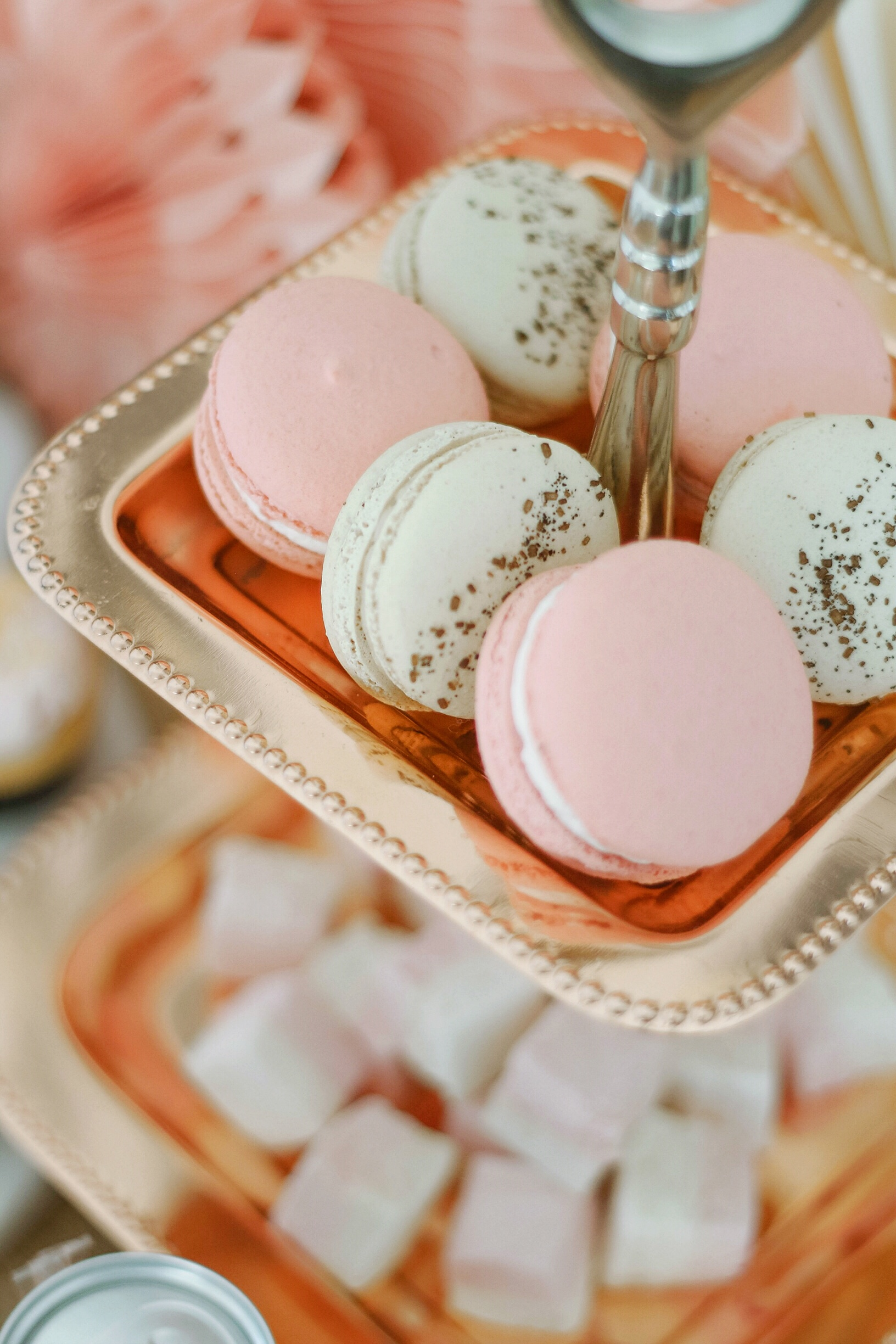 Rose Gold French Macaroons
