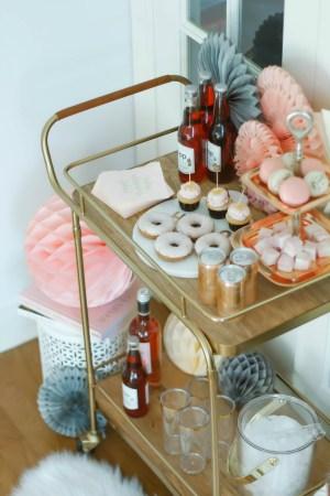 Valentines Day Bar Cart