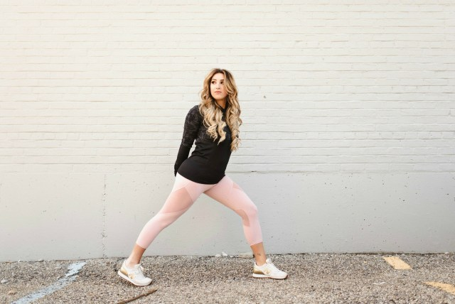 blush pink workout leggings